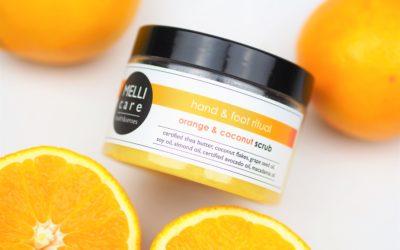 Qltowy Koncept dla Orange & Coconut scrub MELLI care